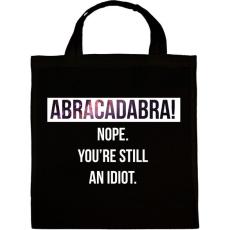 PRINTFASHION Abracadabra! (white) - Vászontáska - Fekete