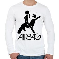 PRINTFASHION Airbag - Férfi hosszú ujjú póló - Fehér