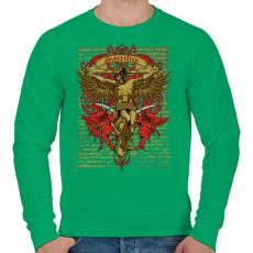 PRINTFASHION Áldozat - Férfi pulóver - Zöld