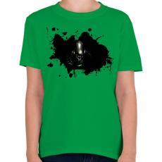 PRINTFASHION Alien  - Gyerek póló - Zöld