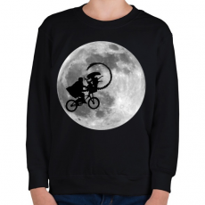 PRINTFASHION Alien - Gyerek pulóver - Fekete