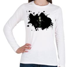 PRINTFASHION Alien  - Női hosszú ujjú póló - Fehér