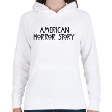 PRINTFASHION American Horror Story - Női kapucnis pulóver - Fehér