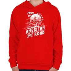 PRINTFASHION Amerika büszkesége - Gyerek kapucnis pulóver - Piros