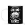PRINTFASHION Amerikai Hotrod  - Bögre - Fekete