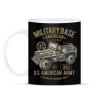 PRINTFASHION Amerikai katonai jeep - Bögre - Fekete