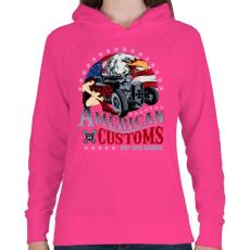 PRINTFASHION Amerikai szokás - Női kapucnis pulóver - Fukszia