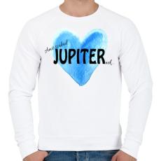 PRINTFASHION Amit szabad Jupiternek... - Férfi pulóver - Fehér