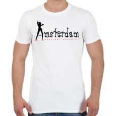 PRINTFASHION amsterdam-black-red - Férfi póló - Fehér