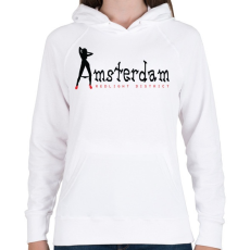 PRINTFASHION amsterdam-black-red - Női kapucnis pulóver - Fehér