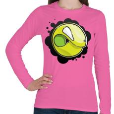 PRINTFASHION Angryball - Női hosszú ujjú póló - Rózsaszín