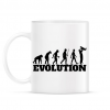 PRINTFASHION APA evolúció - Bögre - Fehér