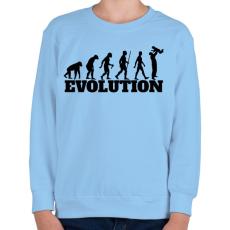 PRINTFASHION APA evolúció - Gyerek pulóver - Világoskék