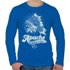 PRINTFASHION Apacs - Férfi hosszú ujjú póló - Királykék