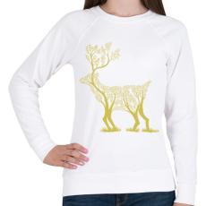 PRINTFASHION Arany szarvas - Női pulóver - Fehér