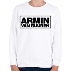 PRINTFASHION Armin Van Buuren - Gyerek pulóver - Fehér