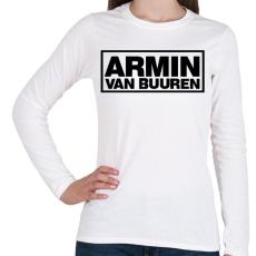 PRINTFASHION Armin Van Buuren - Női hosszú ujjú póló - Fehér
