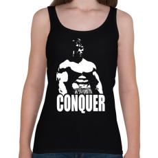 PRINTFASHION Arnold Conquer - Női atléta - Fekete