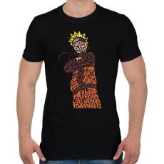 PRINTFASHION Árnyék nindzsa - Férfi póló - Fekete