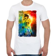 PRINTFASHION Asztronauta játék - Férfi póló - Fehér