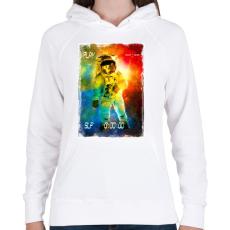 PRINTFASHION Asztronauta játék - Női kapucnis pulóver - Fehér