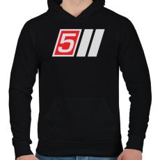 PRINTFASHION AUDI S5 - Férfi kapucnis pulóver - Fekete