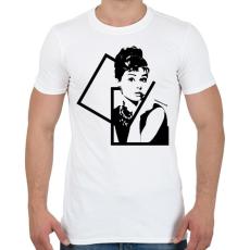 PRINTFASHION Audrey Hepburn - Férfi póló - Fehér