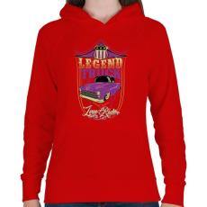 PRINTFASHION Autó legendák - Női kapucnis pulóver - Piros