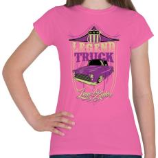 PRINTFASHION Autó legendák - Női póló - Rózsaszín