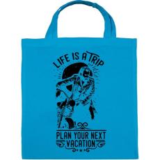 PRINTFASHION Az élet egy utazás - Vászontáska - Kék