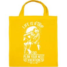 PRINTFASHION Az élet egy utazás  - Vászontáska - Sárga