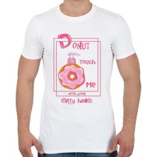 PRINTFASHION Az ellenállhatatlan fánk - Férfi póló - Fehér