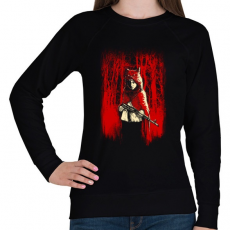 PRINTFASHION Az erdő gyilkosa - Női pulóver - Fekete