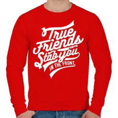 PRINTFASHION Az igaz barát...  - Férfi pulóver - Piros