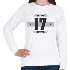 PRINTFASHION b-day-17-dark-lightgrey - Női pulóver - Fehér