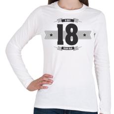 PRINTFASHION b-day-18-dark-lightgrey - Női hosszú ujjú póló - Fehér
