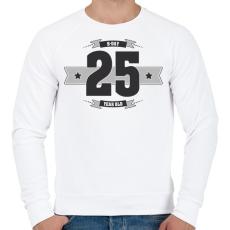 PRINTFASHION b-day-25-dark-lightgrey - Férfi pulóver - Fehér