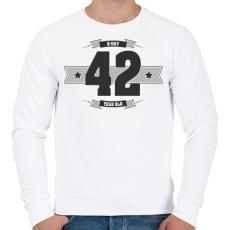 PRINTFASHION b-day-42-dark-lightgrey - Férfi pulóver - Fehér