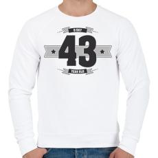 PRINTFASHION b-day-43-dark-lightgrey - Férfi pulóver - Fehér