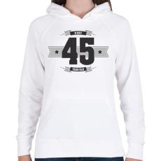 PRINTFASHION b-day-45-dark-lightgrey - Női kapucnis pulóver - Fehér