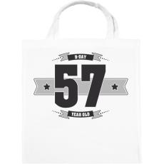 PRINTFASHION b-day-57-dark-lightgrey - Vászontáska - Fehér