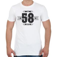 PRINTFASHION b-day-58-dark-lightgrey - Férfi póló - Fehér
