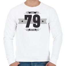 PRINTFASHION b-day-79-dark-lightgrey - Férfi pulóver - Fehér