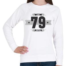 PRINTFASHION b-day-79-dark-lightgrey - Női pulóver - Fehér