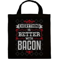 PRINTFASHION Bacon - Vászontáska - Fekete