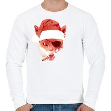 PRINTFASHION Bad santa - Férfi pulóver - Fehér