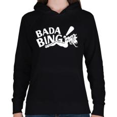 PRINTFASHION bada bing - Női kapucnis pulóver - Fekete
