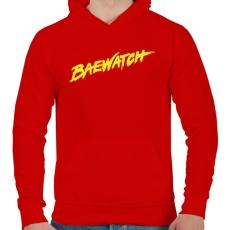 PRINTFASHION BAEwatch - Férfi kapucnis pulóver - Piros