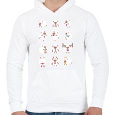 PRINTFASHION Bárányok élete - Férfi kapucnis pulóver - Fehér