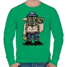 PRINTFASHION Baseball szörny - Férfi pulóver - Zöld